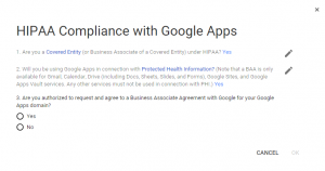 Google Apps HIPAA Compliance BAA